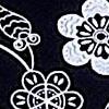 черный с цветами