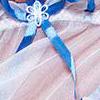белый с голубым